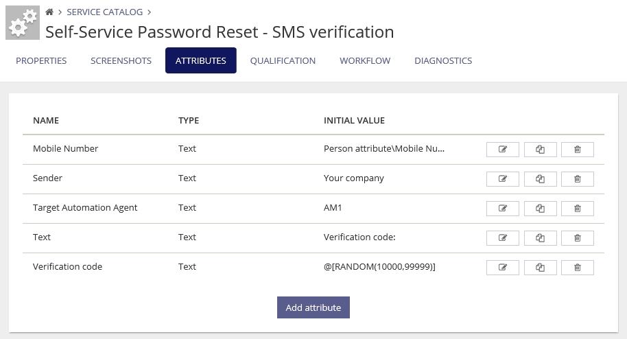Self-service password reset with SMS verification with RES