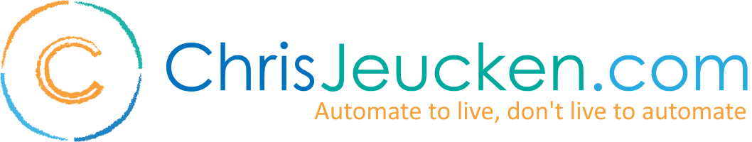 ChrisJeucken com - Automate to live, don't live to automate